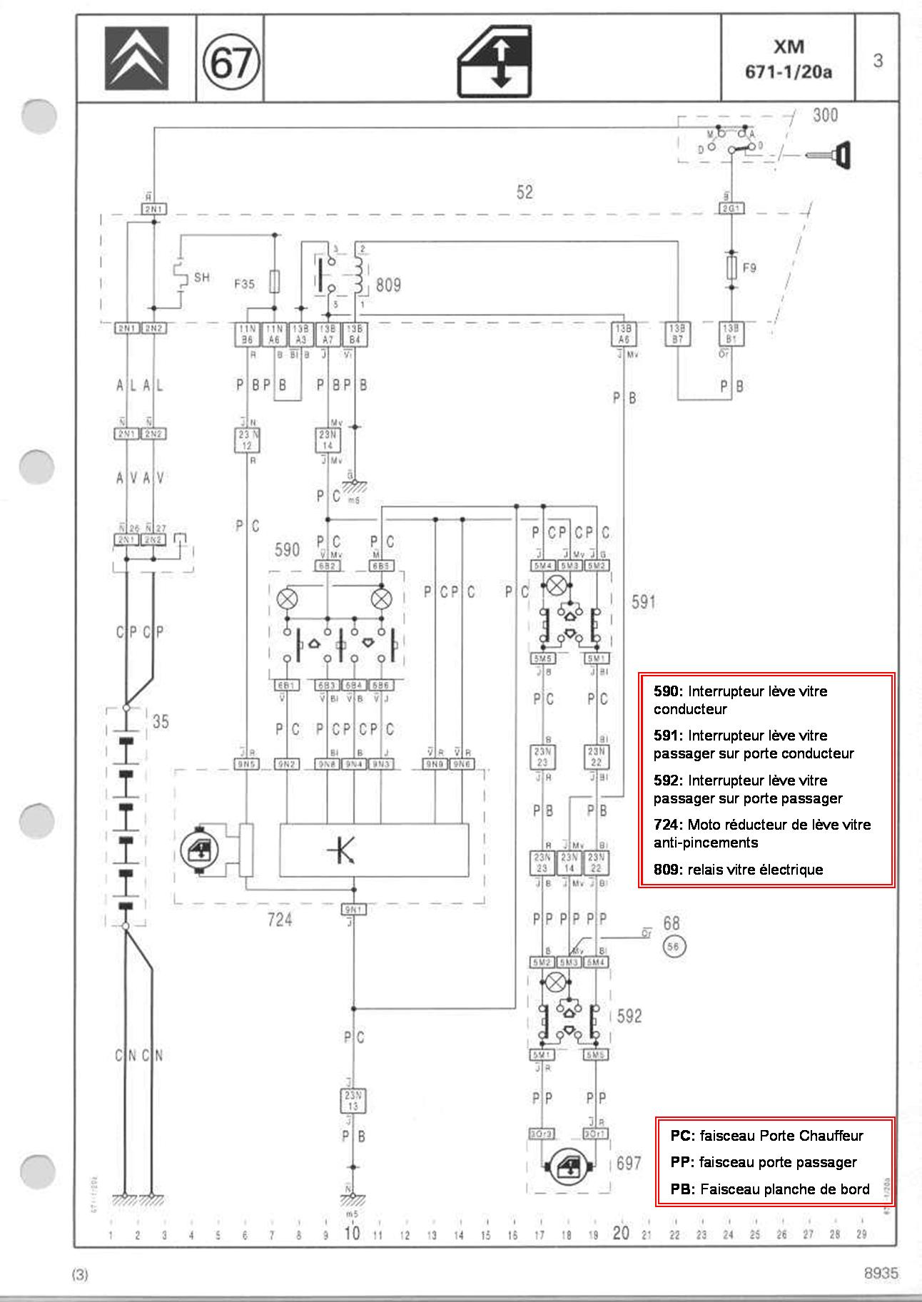 bouton l u00e8ve vitre  u00e9lectrique automatique  u00b7 1 seule pression  u00b7 xm dt 12 1992